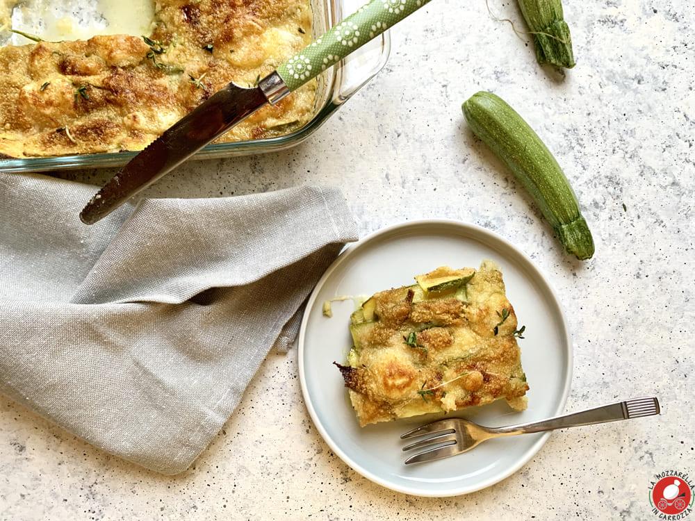 La Mozzarella in Carrozza - Parmigiana bianca di zucchine