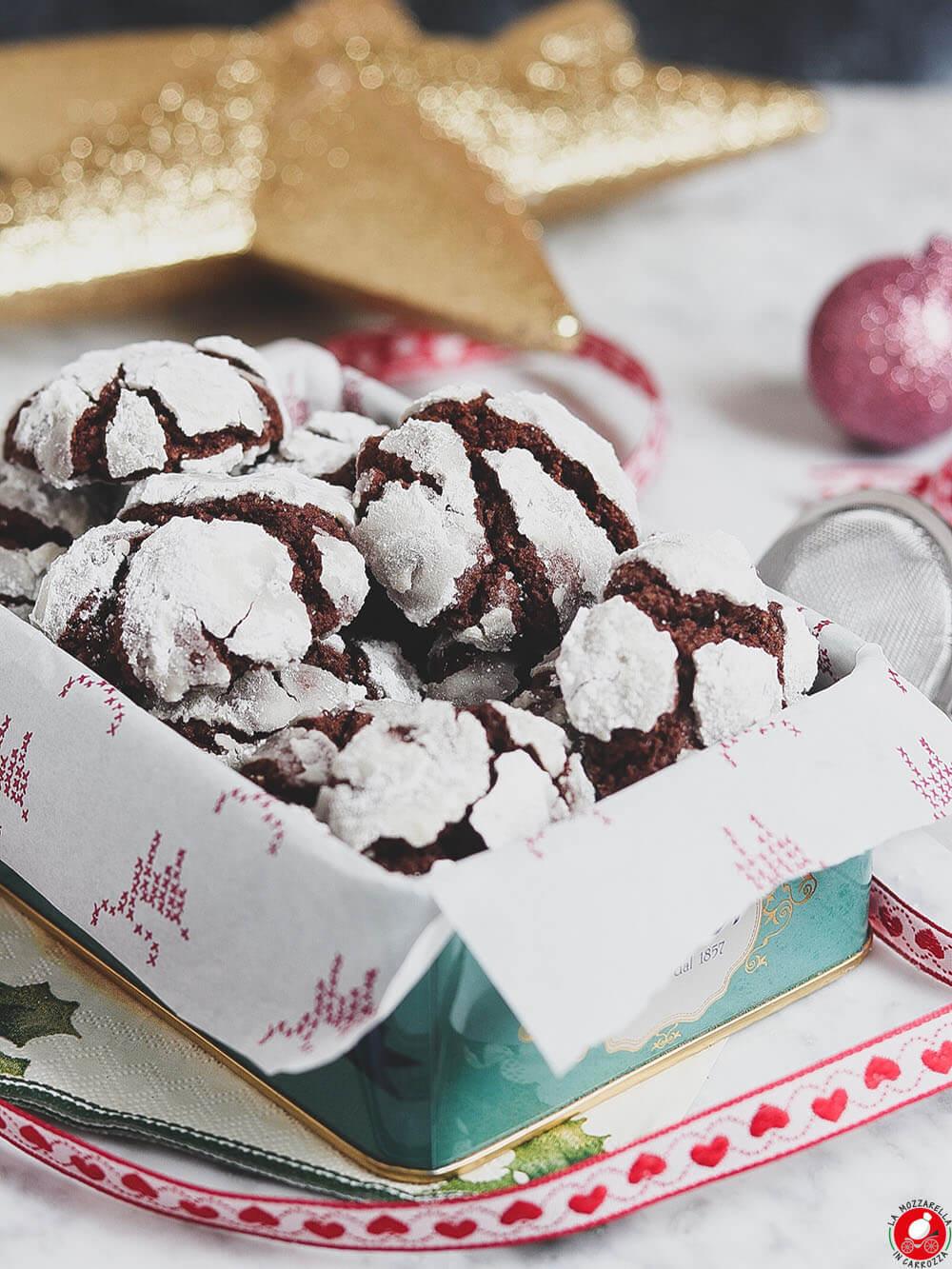 La Mozzarella In Carrozza - Crinkle cookies al cioccolato