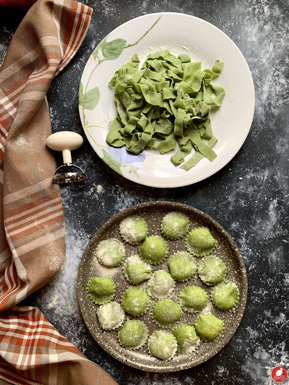 La Mozzarella in Carrozza - Pasta fresca all'uovo con spinaci