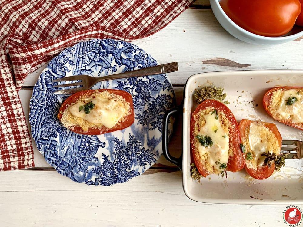La Mozzarella in Carrozza - Pomodori gratinati al forno