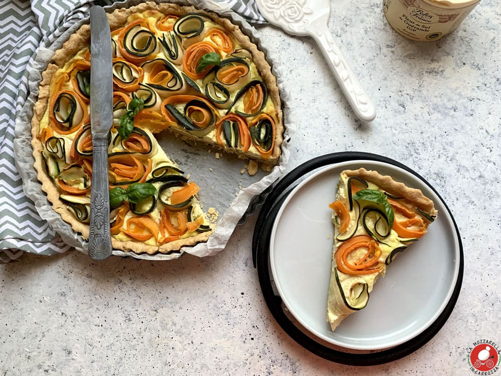 La Mozzarella In Carrozza - Zucchini and carrots roses tart