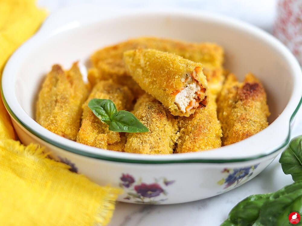 La Mozzarella In Carrozza - Baked stuffed zucchini flowers